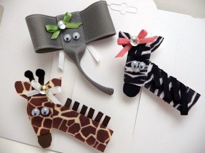 Wild Animal Clippie Trio