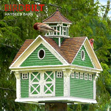 Beautiful barn bird house