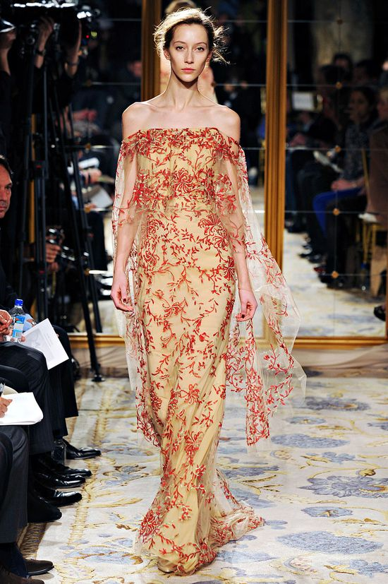 Lovely and ethereal, Marchesa, Fall 2012