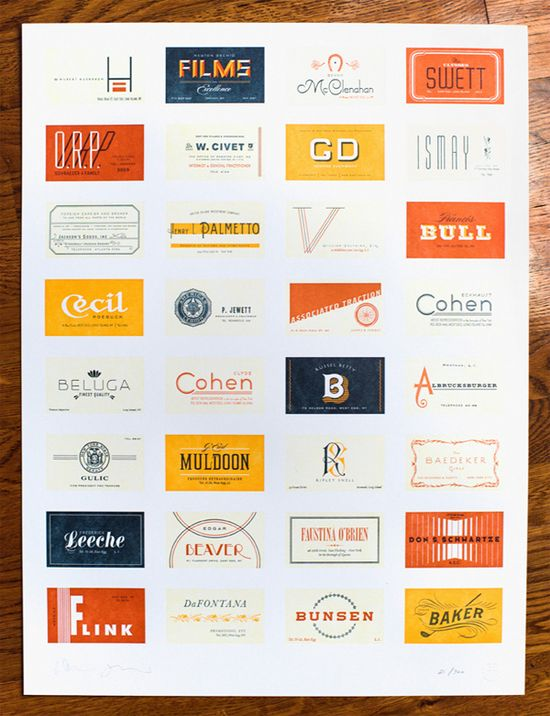 Great Gatsby Poster by Heads of State.  Fictional business cards for Great Gatsby characters.