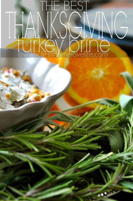 The Best Thanksgiving Turkey Brine