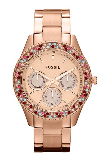 Fossil 'Stella' Crystal Bezel Multifunction Watch available at #Nordstrom ... I want !!