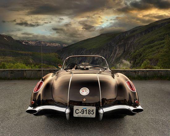 Landscape with Corvette..