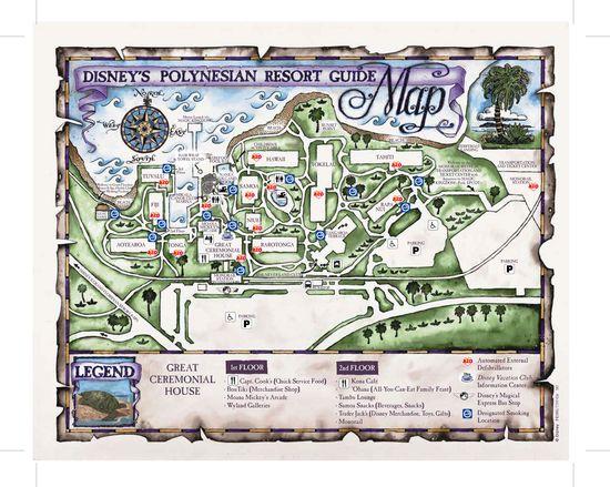 Disney Resorts -- Polynesian Resort map