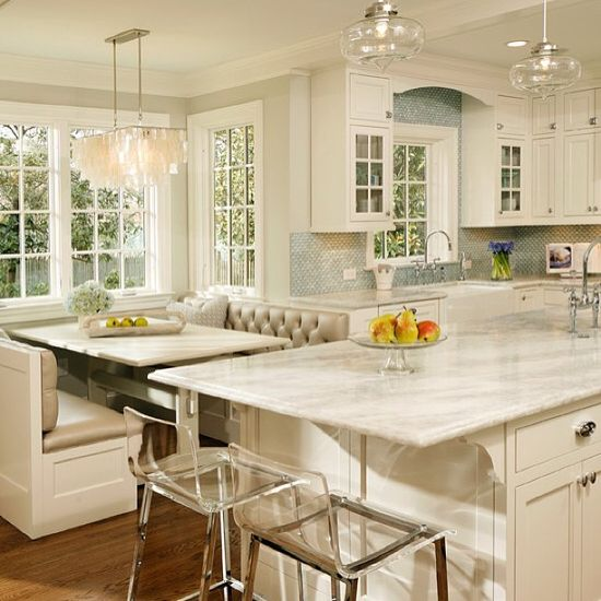 I love the bright light that comes in, and I love the crisp white of the cabinets.