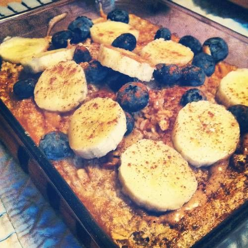 baked oatmeal {love this for breakfast} #healthy