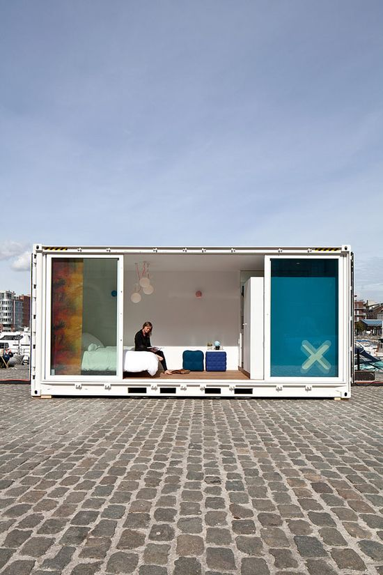 Sleeping Around shipping container pop up hotel, Antwerp