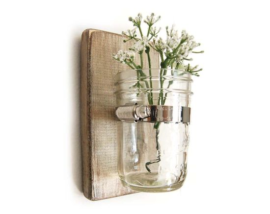 wall sconce/mason jar vase