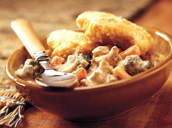Cornbread Topped Chicken Pot Pie