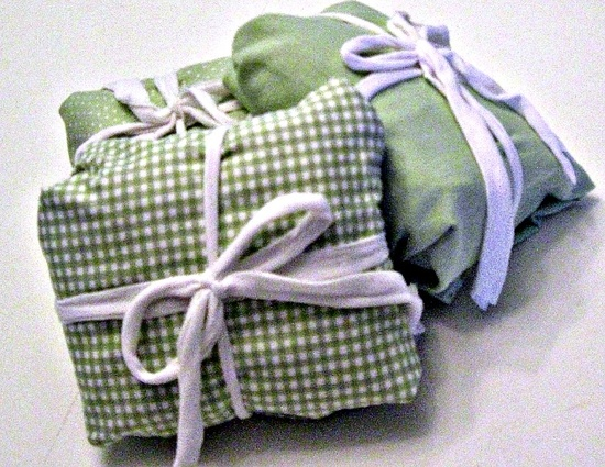baby gift wrapped in receiving blankets