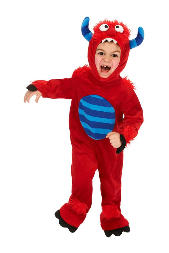 Red Monster Costume - When did Halloween stuff start coming out in the summer. Ugh.