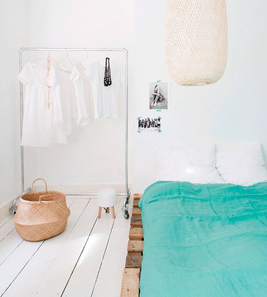 Cozy, clean and modern. #charm #color #interior #design #bedroom #casadevalentina