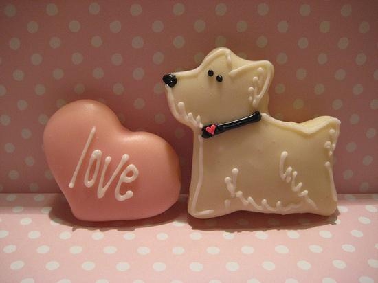 valentine westie cookie