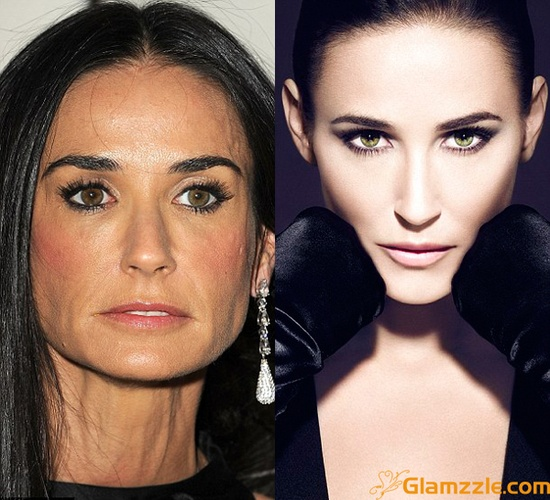 Demi Moore Before And After Photoshop Editing