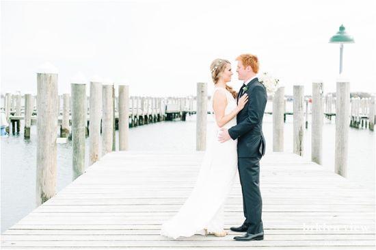 Montauk Yacht Club Wedding Photography - by Brklyn View Photography www.brklynview.com  #pier #wedding #photography #lace #weddingdress #groom