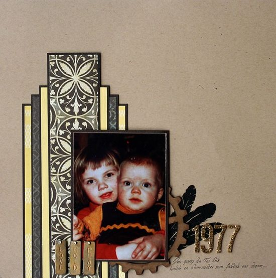 Scrapbook Page Design Inspired by the Art Deco Style
