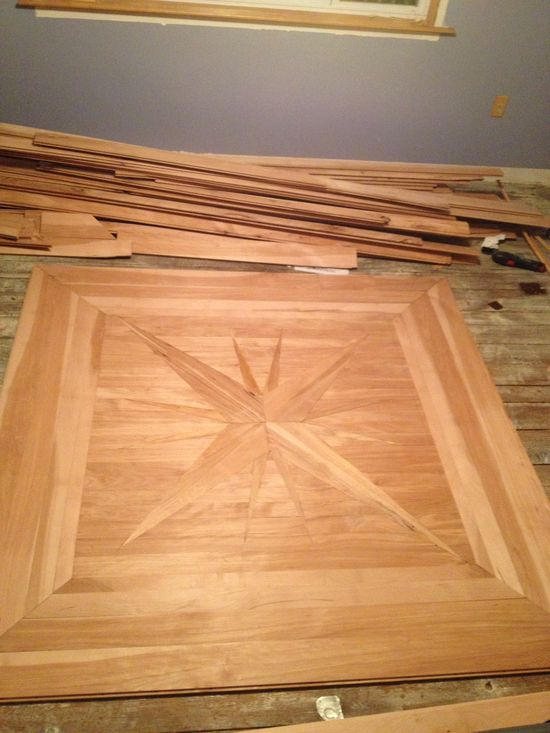 Custom star floor design