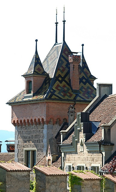 Oberhofen Castle, on Lake Thun, Switzerland