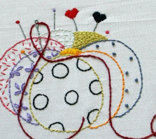 embroidery patterns by Three Kitchen Fairies