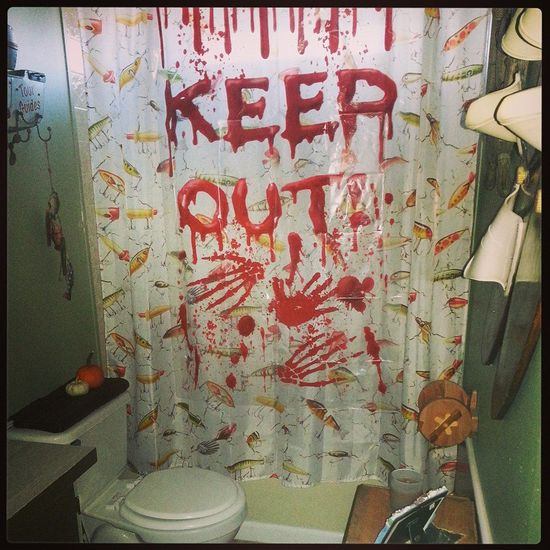 Halloween Party Bathroom Decor