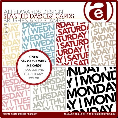 Slanted Days 3x4 Cards