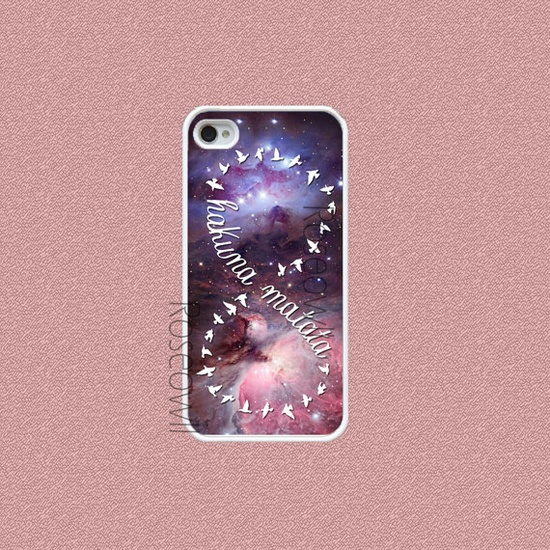 Iphone 5 Case Galaxy Hakuna Matata  iphone cases Cute by Roseowll, $12.99