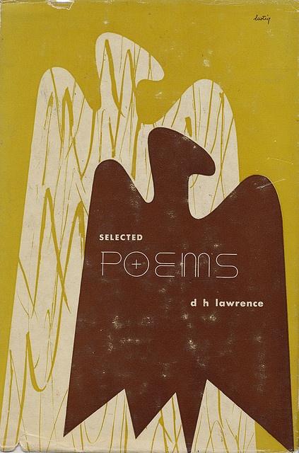 """""""select poems"""" d.h. lawrence - alvin lustig 1947"""