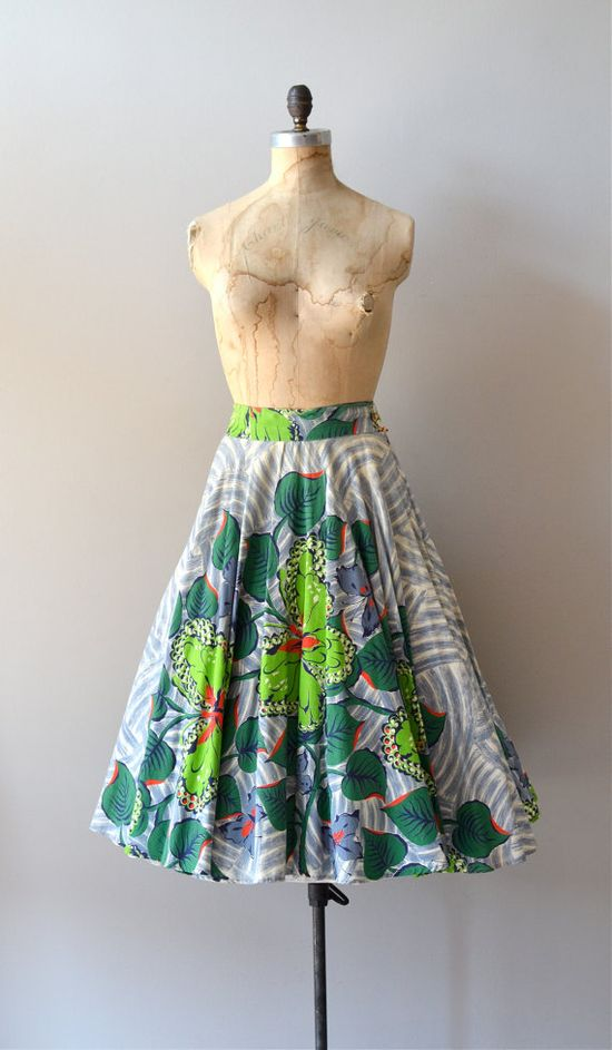 vintage 1950s Archipelago circle skirt    #vintage #1950s #vintageskirt