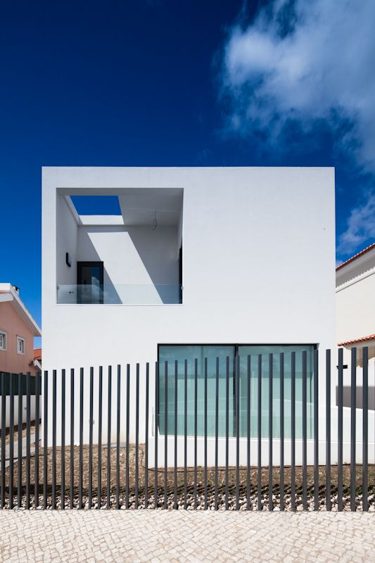The exterior of the DJ House by [i]da arquitectos. Nice.