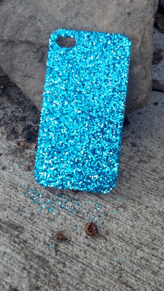 glitter iPhone case CUTE iphone case by kickinitclothing on Etsy, $15.00