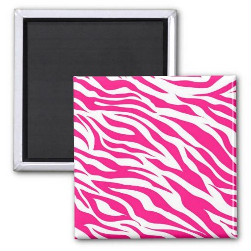 Hot Pink and White Zebra Stripes Wild Animal Print Magnets