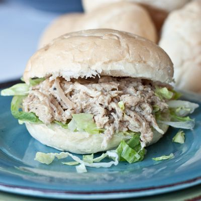 Slow cooker chicken caesar sandwiches. Sounds delish!!!