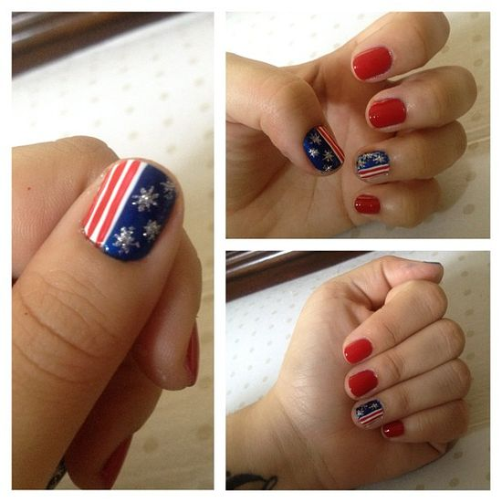 unorthodoxkitty's festive tips. Show us your 4th of July-inspired nails! Tag your pic #SephoraNailspotting to be featured on our social sites.