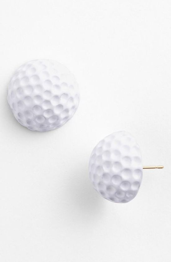 Great gift idea: Golf ball studs earrings by Kate Spade.