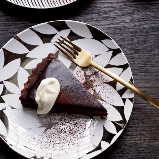 Bittersweet-Chocolate Tart // More Beautiful Desserts: www.foodandwine.c... #foodandwine