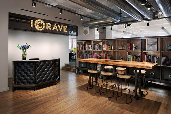 ICRAVE, lobby, Where We Work, interior design, office space