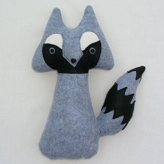 stuffed animal  woodland raccoon by TidwellHollowFriends on Etsy,  25.00