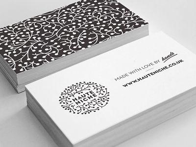 HauteNiche black/white logo + business card  by Martin Gross