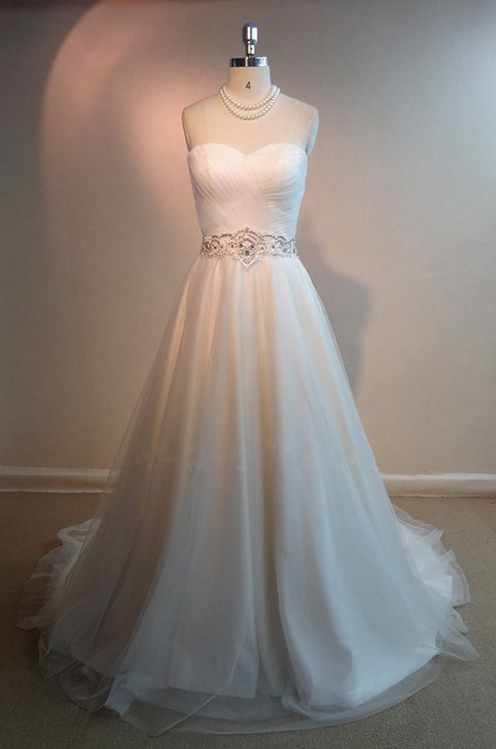 Tailor-Made 'Angel' Wedding Dress £329.99 Showcasing our beautiful finished made to order dresses without the model Amazing intricate workmanship but with an affordable price tag Now with a fabulous choice of 28 beautiful colours or send in your own shade and we'll match it! @ www.tailorwedding...