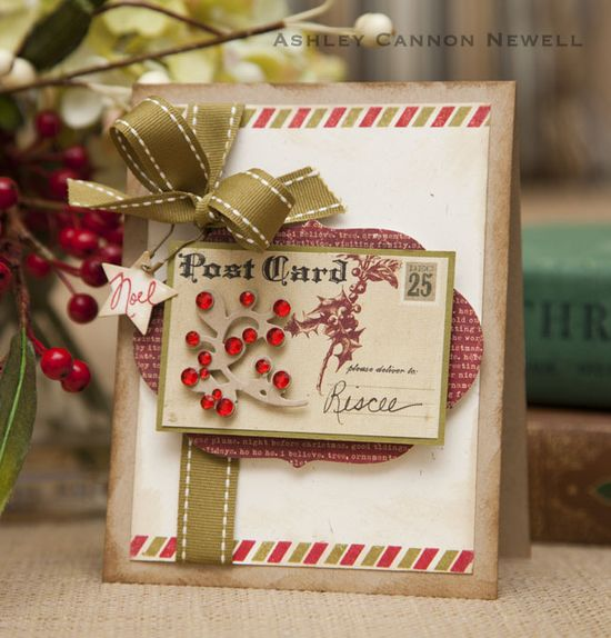 vintage style handmade card