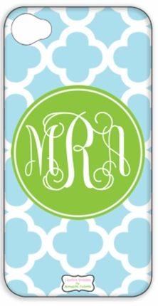 Quatrefoil Monogrammed iPhone Cover - DESIGN YOUR OWN!