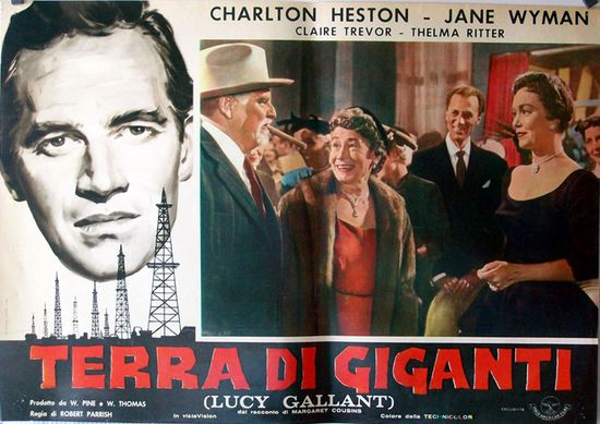 """TERRA DI GIGANTI"" MOVIE POSTER - ""LUCY GALLANT"" MOVIE POSTER"