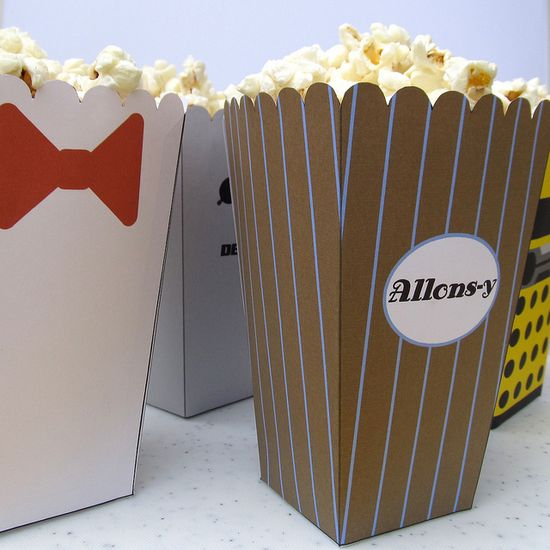 For when we have our Doctor Who marathon party: Doctor Who Popcorn Holders. Dibs on 10!  @Sarah Ringer @Emily Sanders