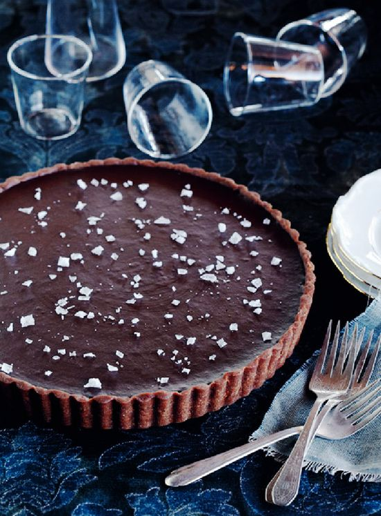 chocolate sea salt tart