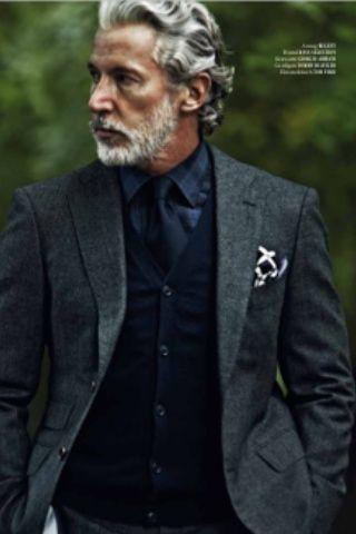 distinguished Grey hair