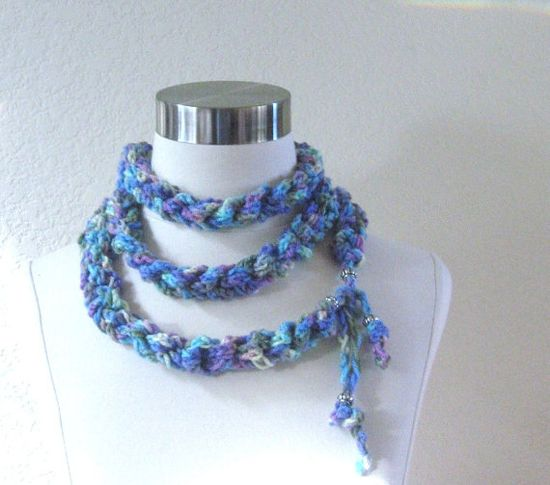 MULTICOLOR  ROPE SCARF Spring Summer Fashion Scarf by marianavail, $19.00