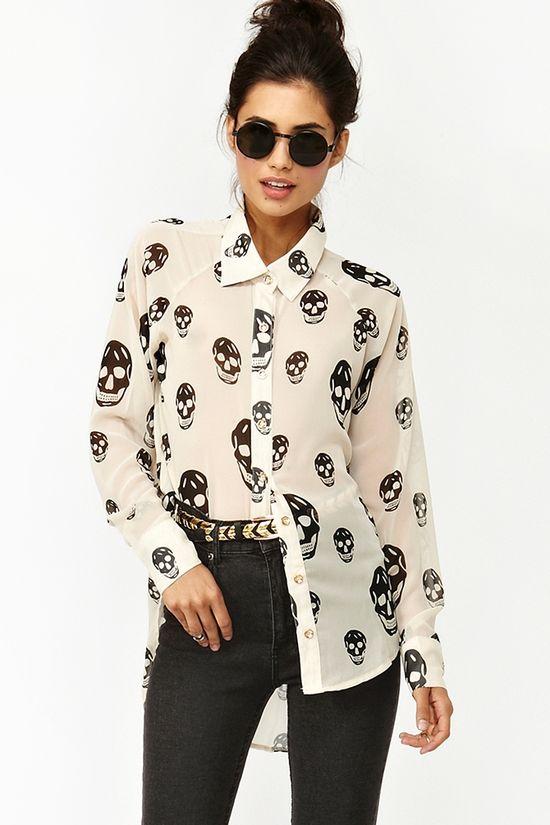 Skull shirt!!
