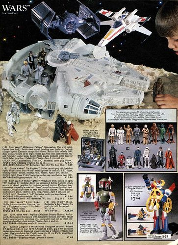 Star Wars toys page from the 1979 Sears Christmas Catalog.
