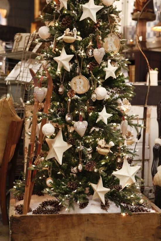 Holidays 2012 #ornaments #christmas #tree #stars #alphabetornaments #pinecones #snow