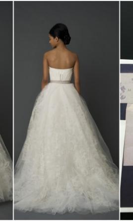 Used Vera Wang Wedding Dress Hannah, Size 4